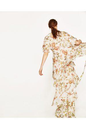 Dames Geprinte jurken - Zara MINI-JURK MET PRINT