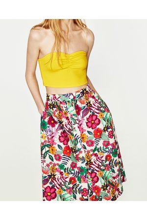 Dames Shirts - Zara GERIBDE BANDEAU - In meer kleuren beschikbaar