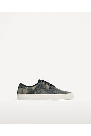 Heren Sneakers - Zara SNEAKERS MET CAMOUFLAGEPRINT