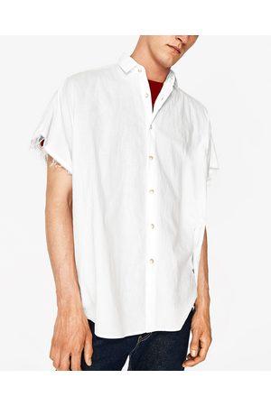 Heren Overhemden - Zara OVERSIZED VOILE OVERHEMD