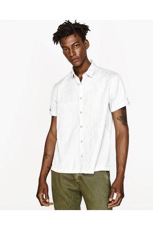Heren Overhemden - Zara OVERHEMD MET KORTE MOUWEN EN MOUWOPHOUDER - In meer kleuren beschikbaar