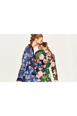 Dames Geprinte jurken - Zara LANGE KIMONO MET BLOEMENPRINT