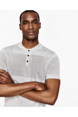 Heren Poloshirts - Zara TRICOT POLO MET AJOUR - In meer kleuren beschikbaar