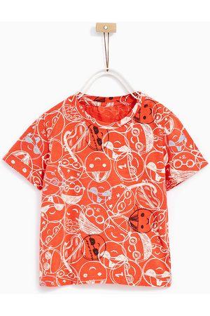 Shirts - Zara T-SHIRT MET GEZICHTJES