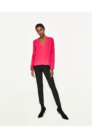 Dames Blouses - Zara BLOUSE MET V-HALS - In meer kleuren beschikbaar
