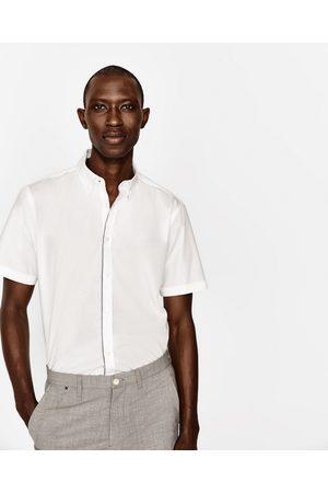 Heren Overhemden - Zara OVERHEMD MET CONTRASTEREND BANDJE