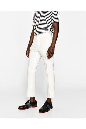 Heren Broeken & Jeans - Zara WHITE SUIT TROUSERS