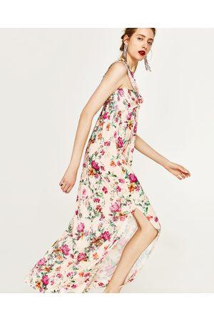 Dames Geprinte jurken - Zara LANGE JURK MET BLOEMENPRINT