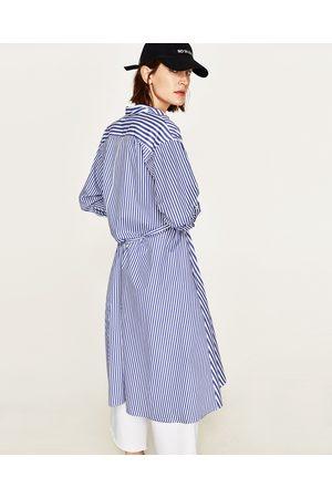 Dames Geprinte jurken - Zara GECOMBINEERDE GESTREEPTE JURK