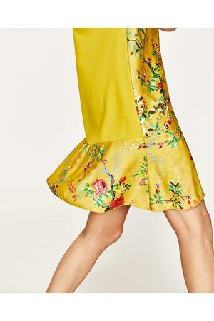 Dames Geprinte jurken - Zara JURK MET BIJPASSENDE BLOEMENPRINT