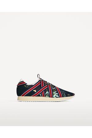 Heren Sneakers - Zara SNEAKERS MET BLOEMENPRINT