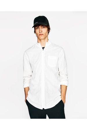 Heren Overhemden - Zara BLOUSE MET RITSSLUITING