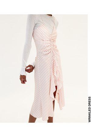 Dames Asymmetrische jurken - Zara JURK MET ASYMMETRISCHE SCHOUDERBANDJES