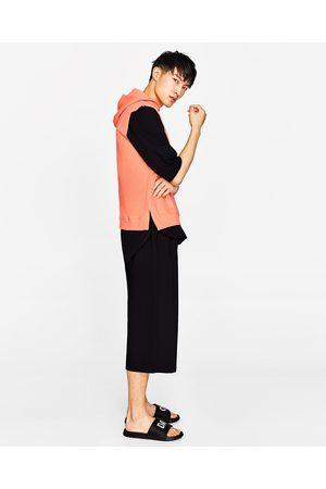 Heren Sweaters - Zara MOUWLOOS SWEATSHIRT MET CAPUCHON