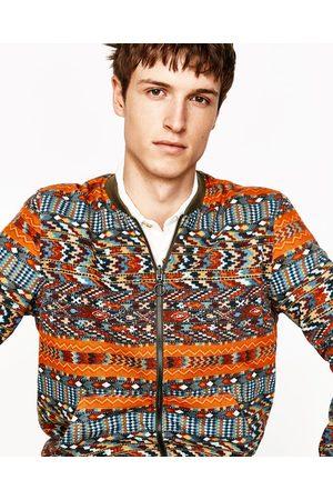 Heren Bomberjacks - Zara OMKEERBAAR BOMBERJACK MET ETNISCHE PRINT - In meer kleuren beschikbaar