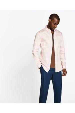 Heren Overhemden - Zara OVERHEMD MET BREDE STREPEN - In meer kleuren beschikbaar