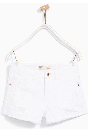 Meisjes Shorts - Zara SHORT MET SCHEUREN - In meer kleuren beschikbaar