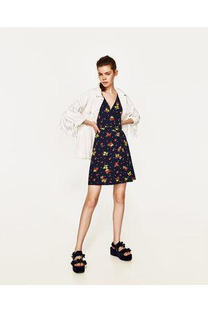 Dames Geprinte jurken - Zara OVERSLAGJURK MET BLOEMENPRINT