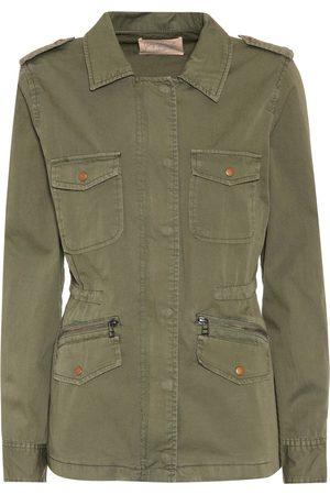 Dames Jacks - Velvet Ruby cotton jacket