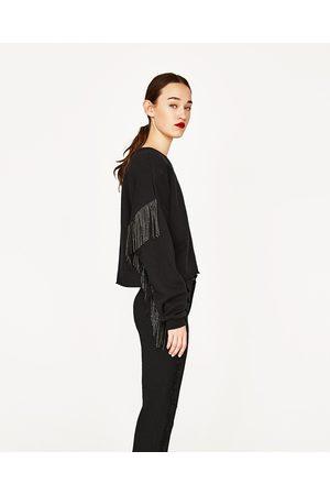 Dames Sweaters - Zara SWEATSHIRT MET FRANJES