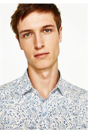 Heren Overhemden - Zara OVERHEMD MET KASJMIERPRINT