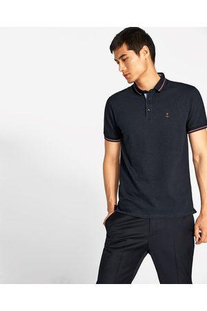 Heren Poloshirts - Zara PIQUÉ POLO MET ANKER - In meer kleuren beschikbaar