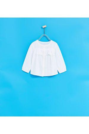 Blouses - Zara BLOUSE MET VOLANT - In meer kleuren beschikbaar