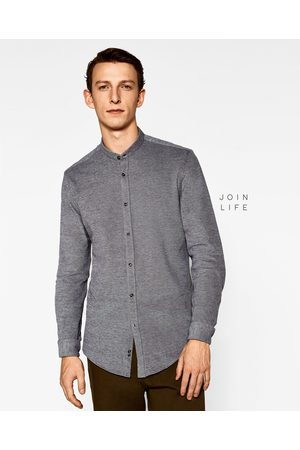 Heren Overhemden - Zara PIQUÉ OVERHEMD MET MAOKRAAG - In meer kleuren beschikbaar