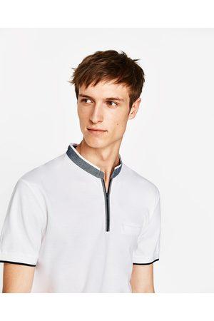 Heren Poloshirts - Zara PIQUÉ POLO MET RITS - In meer kleuren beschikbaar