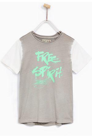 Jongens Shirts - Zara T-SHIRT MET TIE-DYE MOUWEN