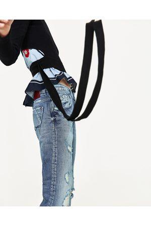 Dames Jeans - Zara RELAXED FIT JEANS MET RAFELS - In meer kleuren beschikbaar