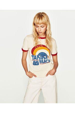 Dames Shirts - Zara T-SHIRT MET VINTAGE OPDRUK - In meer kleuren beschikbaar