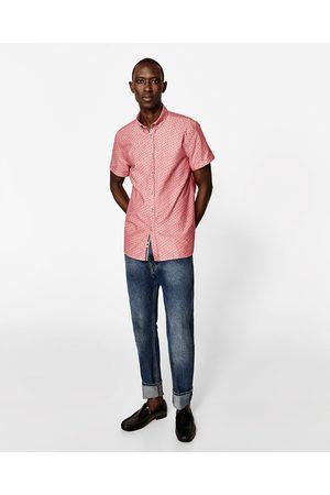 Heren Overhemden - Zara OXFORD OVERHEMD MET PRINT - In meer kleuren beschikbaar