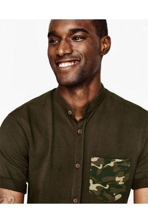 Heren Overhemden - Zara PIQUÉ OVERHEMD MET CAMOUFLAGEPRINT - In meer kleuren beschikbaar