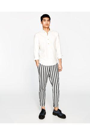 Heren Overhemden - Zara OVERHEMD VAN KATOEN EN LINNEN - In meer kleuren beschikbaar