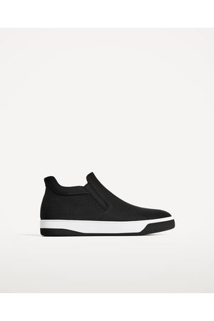 Heren Sneakers - Zara ZWARTE ENKELHOGE SNEAKERS ZONDER SLUITING