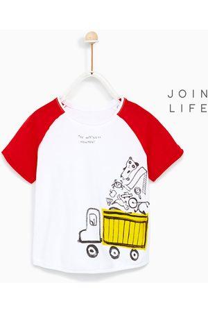 Shirts - Zara T-SHIRT MET GEKLEURDE RAGLANMOUWEN - In meer kleuren beschikbaar