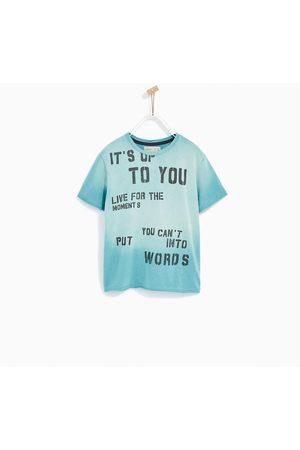Jongens Shirts - Zara T-SHIRT MET TEKST EN SPRAYEFFECT