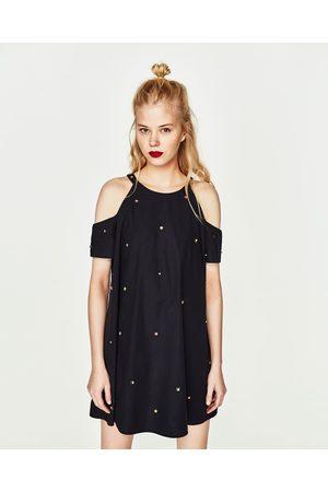 e57babe81e3c0e Zara popeline jurk dames Jurken