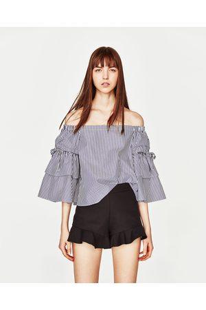 Dames Shorts - Zara SHORT MET HOGE TAILLE EN VOLANT - In meer kleuren beschikbaar