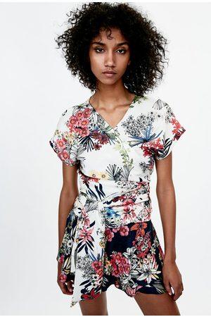 Dames Bermuda's - Zara BERMUDA MET BLOEMENPRINT