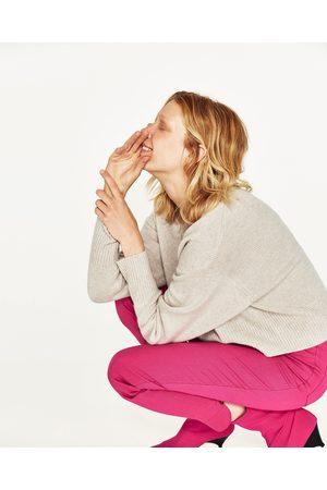 Dames Truien - Zara KASJMIER TRUI MET V-HALS - In meer kleuren beschikbaar