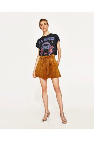 Dames Shirts - Zara T-SHIRT MET ROCK-PRINT