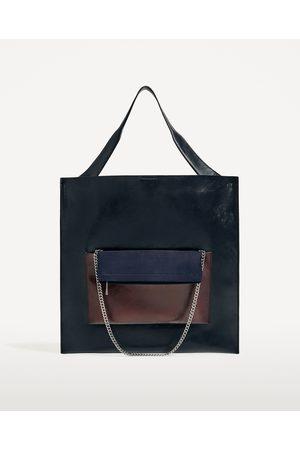 Dames Shoppers - Zara MULTIFUNCTIONELE SHOPPER MET VOORVAKJE