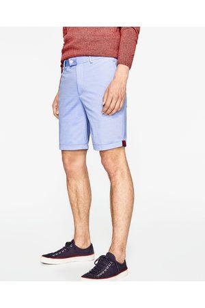Heren Bermuda's - Zara GEWEVEN BERMUDA - In meer kleuren beschikbaar