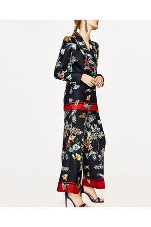 Dames Geprinte jurken - Zara SOEPELVALLENDE PLOOIBROEK MET PRINT