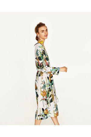 Dames Geprinte jurken - Zara LANGE KIMONO MET PRINT