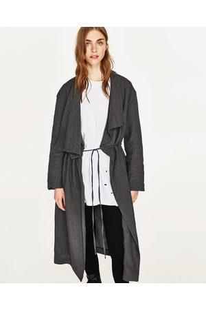Zara zwarte mantel jas