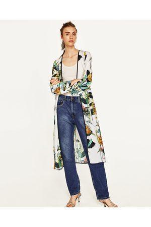 Dames Kimono's - Zara LANGE KIMONO MET PRINT