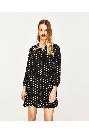 Dames Geprinte jurken - Zara JURK MET STIPPENPRINT